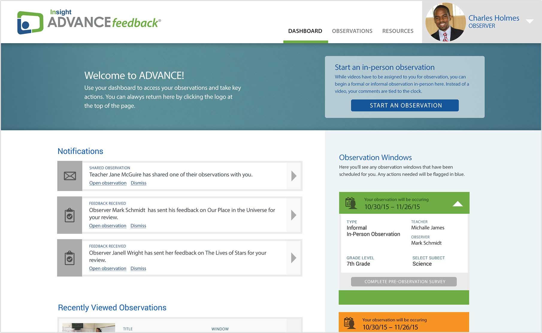Pre-service Teacher Observation & Evaluation - ADVANCEfeedback